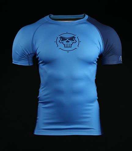 Rashguard Crossborn Minimal Blue