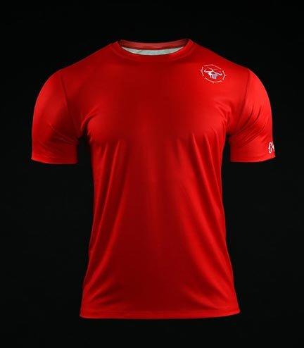Koszulka treningowa (T-shirt) Crossborn Minimal Czerwona