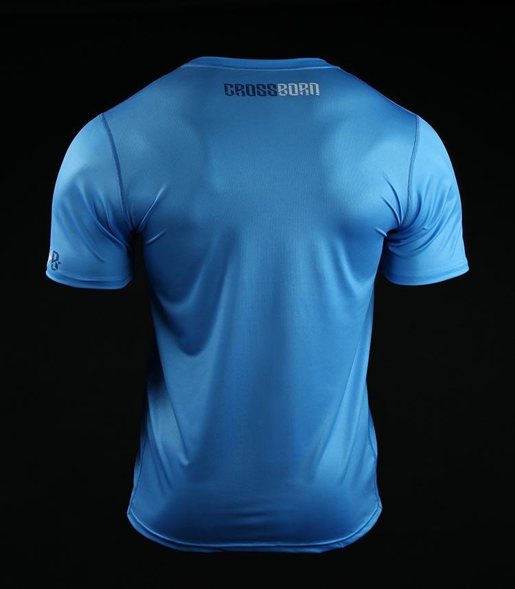 Koszulka treningowa (T-shirt) Crossborn Minimal Niebieska