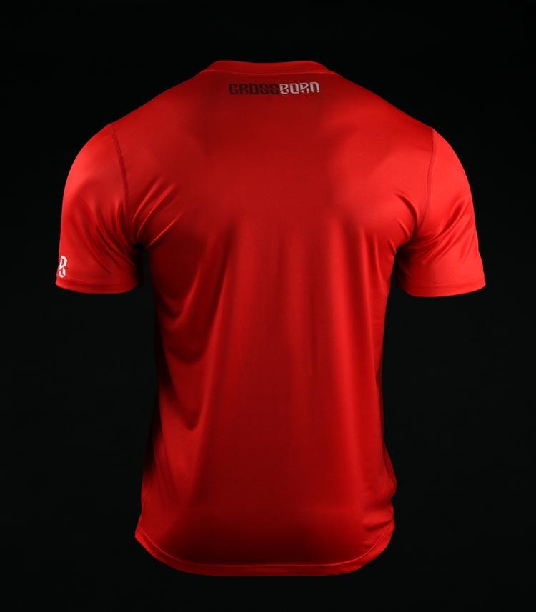 Koszulka treningowa (T-shirt) Skull Dirt Czerwona