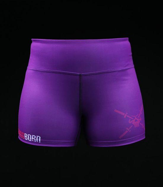 Damskie spodenki treningowe Crossborn Purple